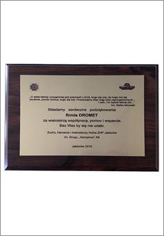 dyplom dla Dromet