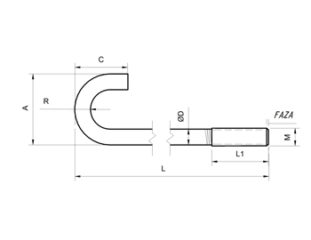Kotwy fundamentowe Rodzaj P/Typ-1